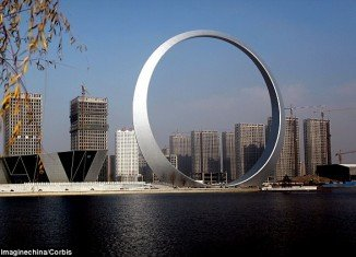 China is building The Ring of Life, a new landmark in the northeast of the country that defies the notion that size doesn't matter