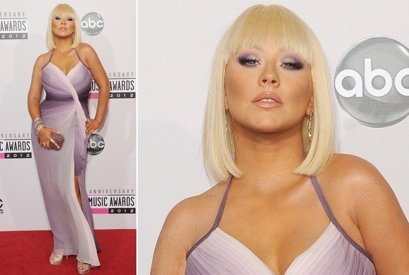 Christina Aguilera burst onto the AMA's on Sunday evening showing an unapologetic air of defiance to the skinny as she embraced her fuller figure