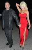 Courtney Stodden and Doug Hutchison could hardly keep their lips nor hands off one another as they posed for pictures