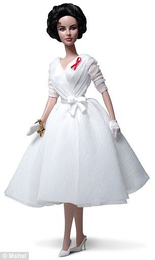 Elizabeth Taylor White Diamonds Barbie doll