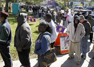 Florida is suffering from a bottleneck of voters ahead of Election Day, with some waiting up to nine hours to cast their ballots