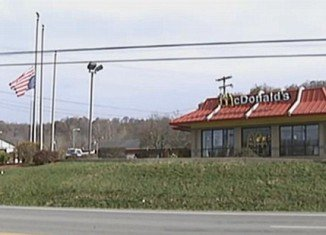 Follansbee McDonald's restaurant hung the US flag at half-mast and upside-down