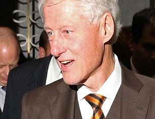 Former President Bill Clinton looked remarkably trim as he left a plush London restaurant