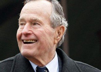 Former President George HW Bush is being treated for bronchitis in hospital in Houston