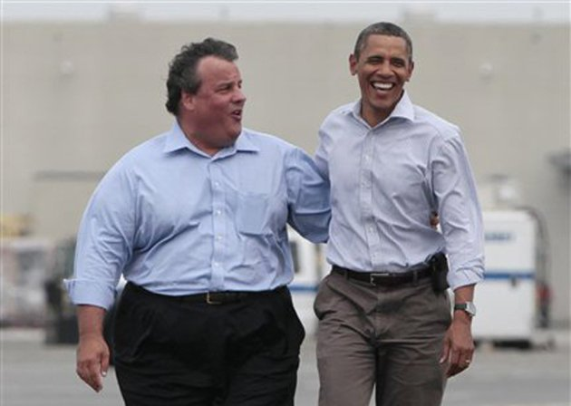 Governor Chris Christie telephoned Barack Obama after his election win but only sent an email to Mitt Romney