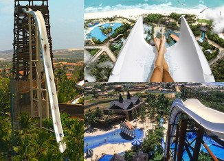 Insano, the world's tallest water slide, is towering over the Brazilian landscape at a whopping 41 metres high, it is the equivalent of a 14-storey building