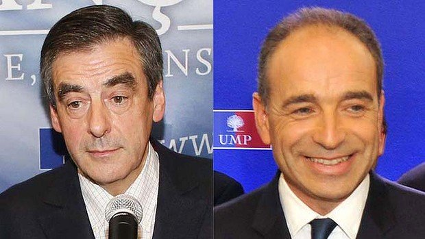 Jean-Francois Cope and Francois Fillon have claimed victory in France' opposition election and accused their rival of fraud and ballot-stuffing