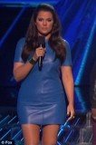 Khloe Kardashian has decided to chose a stunning bright blue Celine minidress for X Factor results show