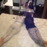 Kim Kardashian posted the picture of herself and Larsa Pippen displaying their shapes