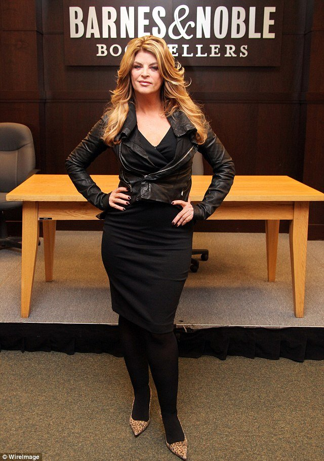 Kirstie Alley shows off her ever-decreasing frame at her book The Art of Men signing
