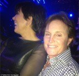 Kris Jenner jumped on Bruce Jenner's lap for some PDA action in front of crowds at X Factor
