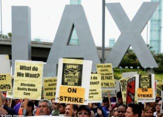 LAX employees are threatening to strike over being denied healthcare on Thanksgiving eve