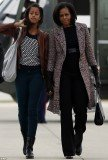 Malia Obama proved she has inherited her mother's classic seamlessly following in her well-heeled footsteps