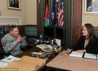 Paula Broadwell, who researched the book All In for three years, had extensive access to David Petraeus in Afghanistan
