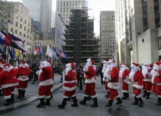 Sidewalk Santa Parade 2012