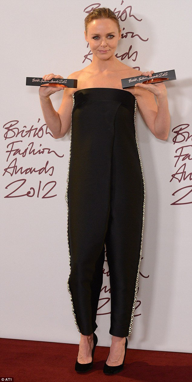 Stella McCartney was awarded Designer of the Year and Designer Brand of the Year at British Fashion Awards 2012 at London's Savoy hotel