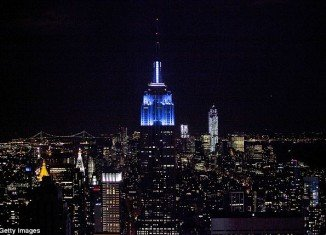 The Empire State Building was bathed in blue light on Election Night as Barack Obama won a second term in office