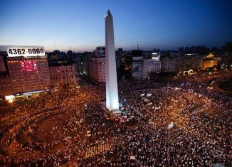 Thousands of Argentineans have taken to the streets of Buenos Aires in protest at the government of Cristina Fernandez de Kirchner