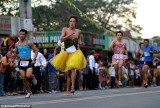 Up to 100 runners, men and women, from the Marikina suburb of Manila in the Philippines competed in the whacky annual race, Tour of Heels