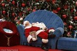 A friendly shopping mall Santa helped Sarah Pasley to lull her baby boy back to sleep during a visit to the Boise Towne Square mall last year