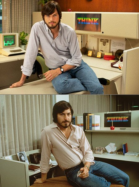 Ashton Kutcher's transformation into Steve Jobs has been shown off in its entirety thanks to the first official photo for the upcoming biopic being released