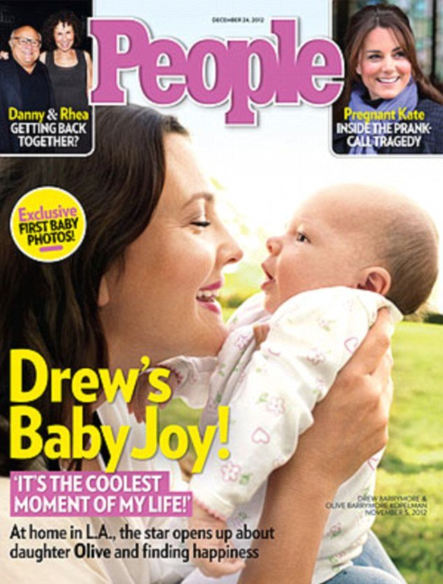 Drew Barrymore has intoduced baby daughter Olive to the world on the cover of People magazine