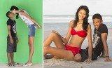 Elisany da Cruz Silva, the world's tallest teenage girl, and her boyfriend Francinaldo da Silva Carvalho