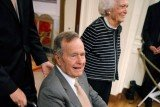 Former US President George H.W. Bush has spent Christmas with his wife Barabara and other family members in a Houston hospital