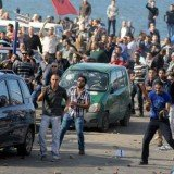 Fresh clashes have broken out in the Egyptian city of Alexandria on the eve of the second leg of voting in the country's constitutional referendum