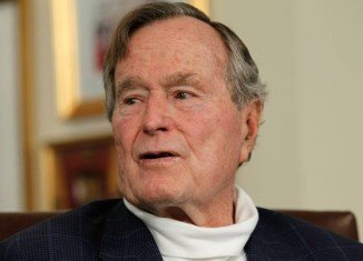 George H. W. Bush has been in intensive care with a fever since Sunday