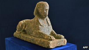 Italian police say they have recovered a stolen 2,000-year-old Egyptian sphinx near the capital Rome