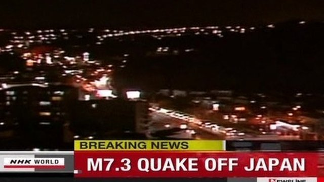 Japan has issued a tsunami warning after a 7.3 magnitude earthquake struck off the country's eastern coast