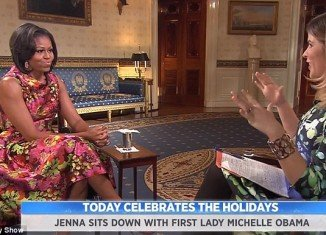 Jenna Bush and Michelle Obama compare notes on Christmas at the White House