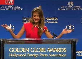 Jessica Alba announced Golden Globe nominations from the Beverly Hilton Hotel
