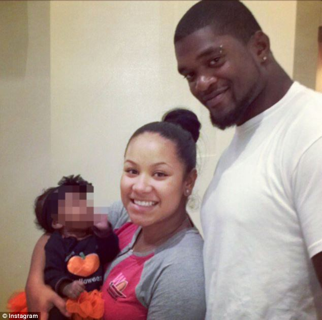 Jovan Belcher pictured with his girlfriend Kasandra Perkins
