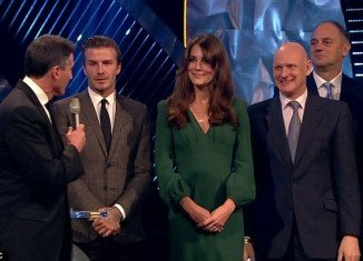 Kate Middleton made her first formal public appearance since her pregnancy was announced at the BBC Sports Personality of the Year ceremony in London, where she presented two awards