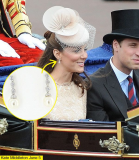 Kate Middleton wore a delicate pair of imitation diamond-and-pearl earrings to the Diamond Jubilee service at St Paul's Cathedral earlier this year