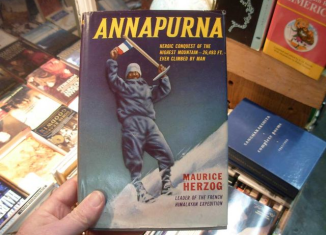 Maurice Herzog was famed as the first person to conquer a peak of 8,000 metres when he reached the summit of Annapurna in the Himalayas in 1950
