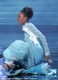Miss Guyana Ruqayyah Boyer became a fashion victim of her floor-sweeping evening dress and crashed to the floor in front of the judges at Miss Universe 2012 in Las Vegas