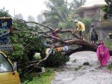 More than 40,000 people have been moved into shelter as powerful Typhoon Bopha hits Mindanao island, southern Philippines