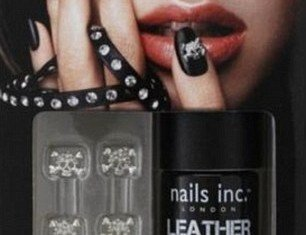 Nails Inc leather-look nail polish Bling It On Rebel Kit sold out in seconds after going on sale in the US yesterday