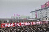 North Korean people have gathered in Pyongyang for a mass rally to celebrate Wednesday's long-range rocket launch