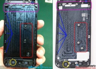Pictures leaked online claim to show the case for the forthcoming iPhone 5S