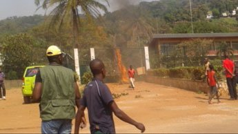 President Francois Hollande has ordered tighter security for French embassy in the Central African Republic, after it was attacked by protesters