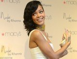 Rihanna launched her new fragrance Nude in a virginal white dress and minimal make-up