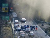 Sasago tunnel has collapsed in Japan, trapping a number of vehicles and leaving seven people missing