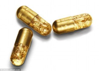 The 24kt gold pill promises to turn your innermost parts into chambers of wealth