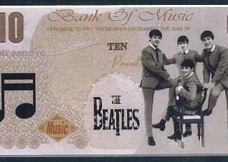 The Beatles, Mick Jagger and Robbie Williams are among the names being considered to appear on the new £10 banknote