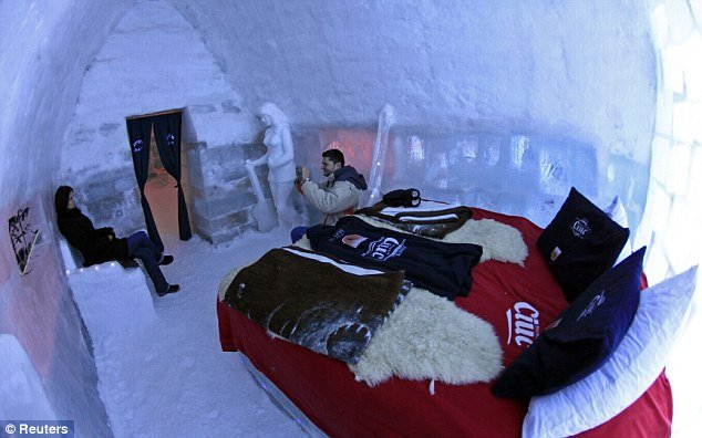 With its frosty furniture and glittering white walls, Hotel of Ice Balea Lac in Romania certainly attracts visitors keen to experience the unusual surroundings
