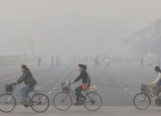 Air pollution in the Chinese capital Beijing has reached levels judged as hazardous to human health